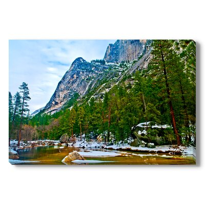 Mirror Lake Yosemite Photographic Print Wrapped on Canvas by Gallery Direct