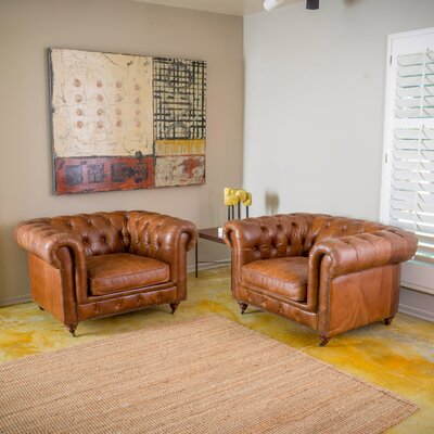 Finnigan Tufted Arm Chair by Home Loft Concepts
