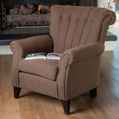 Waldorf Channel Club Chair by Home Loft Concepts