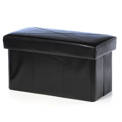 Malik Leather Storage Ottoman by Home Loft Concepts