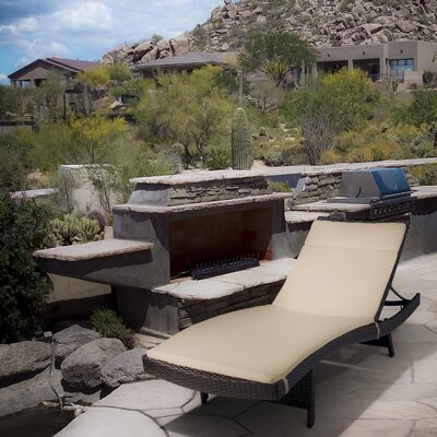 Montenegro Adjustable Chaise Lounge with Beige Cushions by Home Loft Concepts