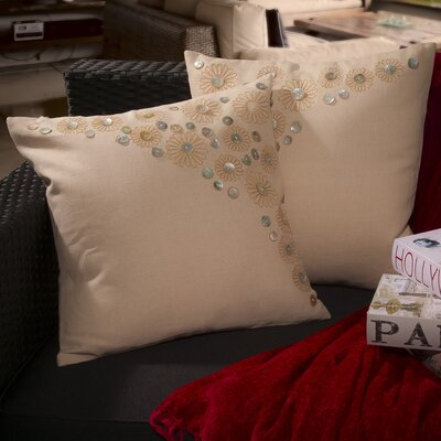 Home Loft Concepts Andrea Embroidered Paillette Throw Pillow