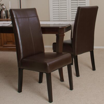 Caleb PU Dining Chair (Set of 2) by Home Loft Concepts