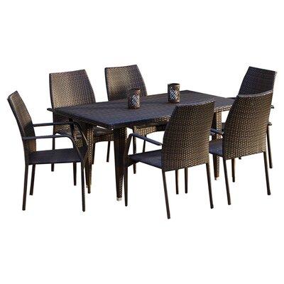 Home Loft Concept Ventura 7 Piece Outdoor Dining Set