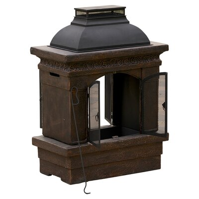 Home Loft Concepts Barbados Outdoor Copper Stone Chiminea Fireplace