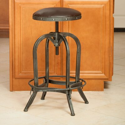 Dutton Adjustable Height Swivel Bar Stool by Home Loft Concepts