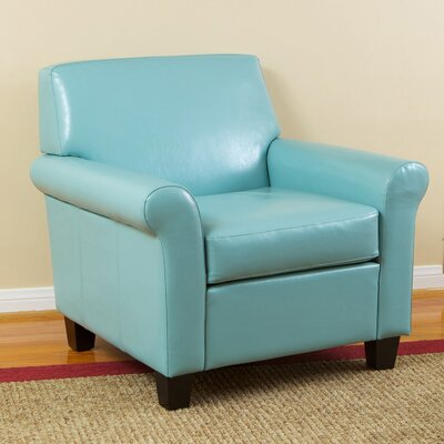 Yonkers KD Bonded Leather Club Chair by Home Loft Concepts
