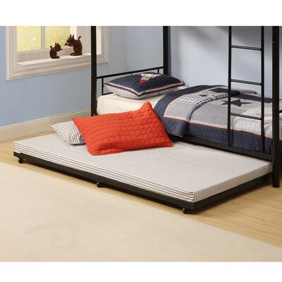 Home loft concept twin roll out trundle bed frame for Home loft concept bunk bed