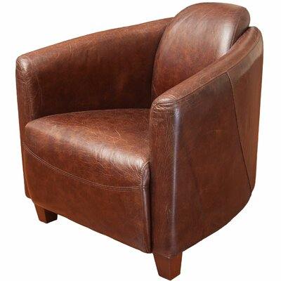 McPherson Leather Club Chair by Home Loft Concepts