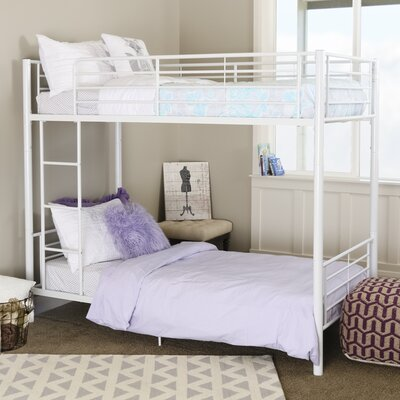 Home Loft Concepts Brady Twin Bunk Bed with Built-In Ladder