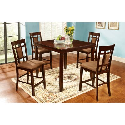 5 Piece Counter Height Dining Set by Hazelwood Home