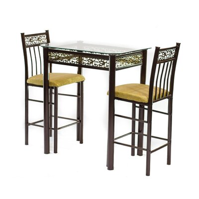 Hazelwood Home 3 Piece Pub Table Set