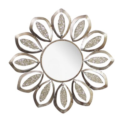 Round Metal Mirror by Hazelwood Home