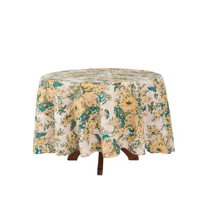 In Full Bloom Round Tablecloth by April Cornell
