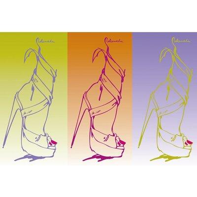 Graham & Brown Barbara Hulanicki Funk Shoe Graphic Art on Canvas
