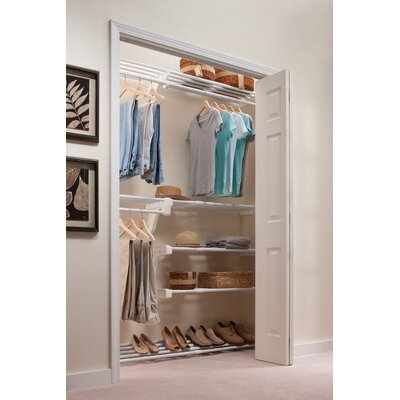 Expandable Reach-In Closet Organizer with Shoe Rack Product Photo
