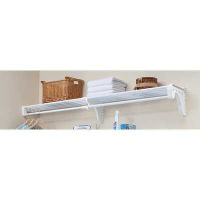 "11.75"" Deep Expandable Closet Rod and Shelf with 1 End Bracket Product Photo"