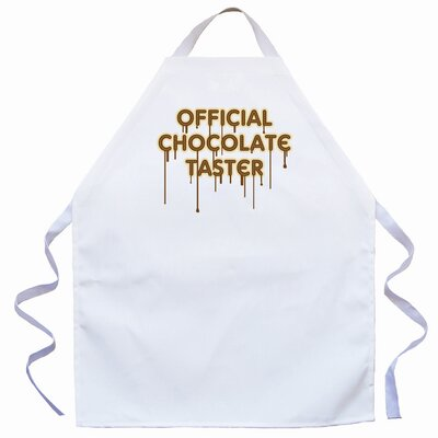 Attitude Aprons by L.A. Imprints Chocolate Taster Apron in Natural