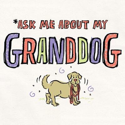 Attitude Aprons by L.A. Imprints Granddog Apron in Natural