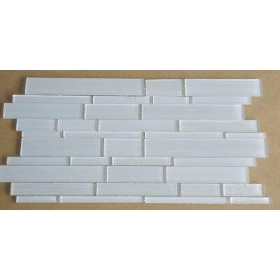 Studio Random Sized Glass Mosaic Tile in White by Mulia Tile