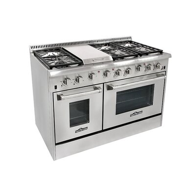 6.7 Cu. Ft. Gas Convection Range in Stainless Steel Product Photo