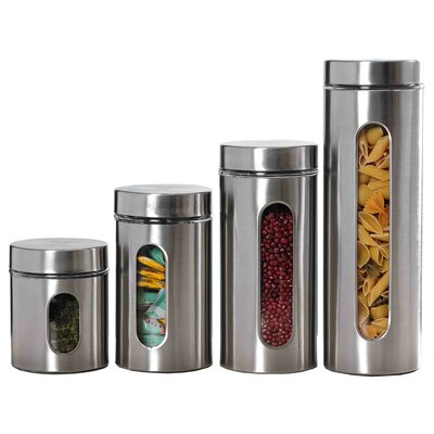 4 Piece Canister Set by Home