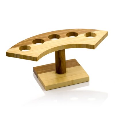 Crescent 5-Slot Bamboo Cone Stand by Restaurantware