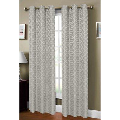 Sonata Woven Lattice Jacquard Grommet Curtain Panel (Set of 2) Product Photo