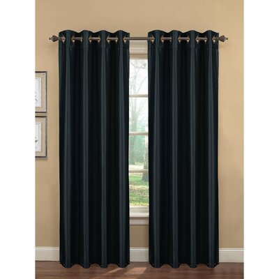 Kim Faux Silk Extra Wide Grommet Curtain Panel (Set of 2) (Set of 2) Product Photo