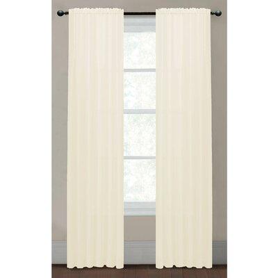 Sheer Elegance Textured Rod Pocket Curtain Panels (Set of 2) Product Photo