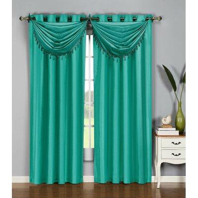 Jamie Faux Silk Waterfall Window Curtain Valance Product Photo