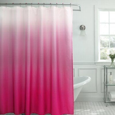 bath studio ombre waffle fabric weave shower curtain reviews wayfair. Black Bedroom Furniture Sets. Home Design Ideas