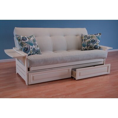 Coastal Phoenix Classic Stripe Storage Drawers Futon and Mattress by Kodiak Furniture