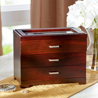 Shannon Wooden Jewelry Box by Three Posts