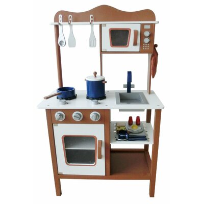 Modern Wooden Play Kitchen by Berry Toys