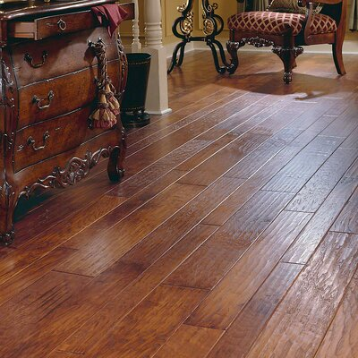 Forest Valley Flooring Random Width Engineered Hickory Hardwood Flooring in Autumn