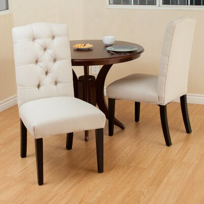 Berlin Tufted Fabric Dining Chair by Christopher Knight Home