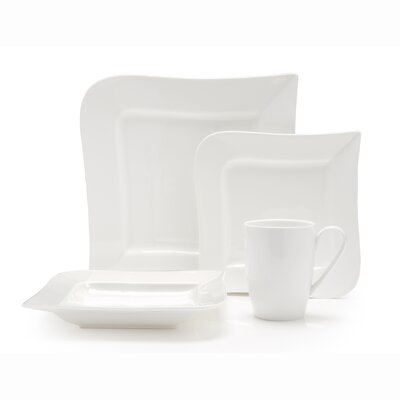 Ojo Vitrified China 16 Piece Dinnerware Set by Fortessa