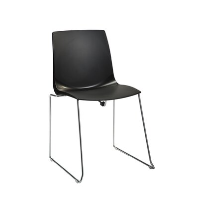 Swell Armless Office Stacking Chair by Silver Seating