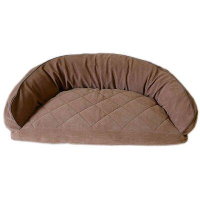 Diamond Quilted Semi Circle Lounge Bolster Dog Bed by Carolina Pet Company