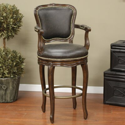 Salvatore Swivel Bar Stool with Cushion by American Heritage