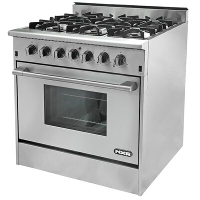 5.2 Cu. Ft. Gas Convection Range in Stainless Steel by NXR Professional Ranges