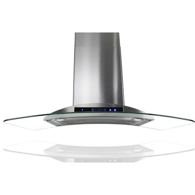 """36"""" 760 CFM Convertible Wall Mount Range Hood in Silver Product Photo"""