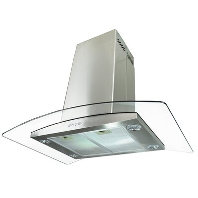 "30"" 870 CFM Convertible Island Range Hood in Silver Product Photo"