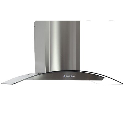 "36"" 760 CFM Convertible Wall Mount Range Hood in Silver Product Photo"