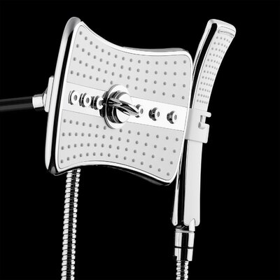 2.5 GPM Rainfall 2 Piece Jet Shower Head and Handheld Shower Wand Set Product Photo