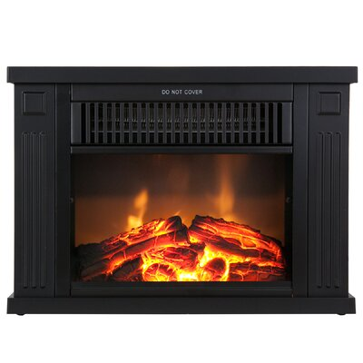 akdy freestanding tabletop mini electric fireplace