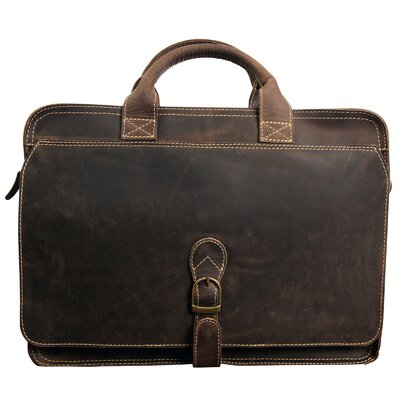 Texas Leather Briefcase by Canyon Outback Leather