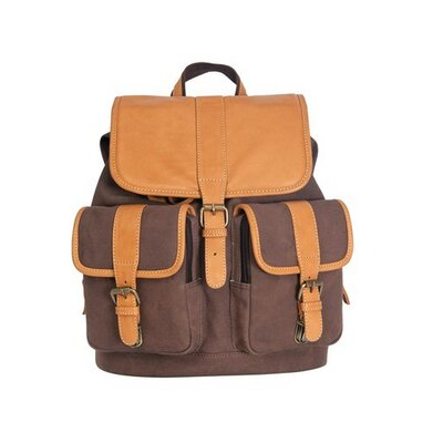 Little Gem Canyon Leather & Canvas Backpack by Canyon Outback Leather