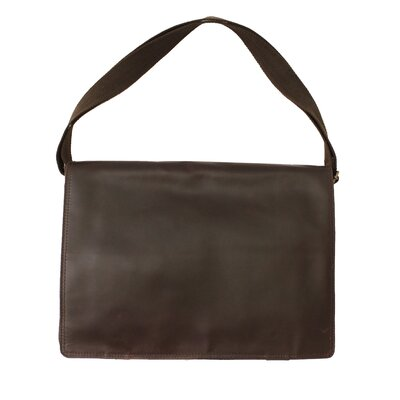 Nine Mile Leather Flapover Messenger Bag by Canyon Outback Leather